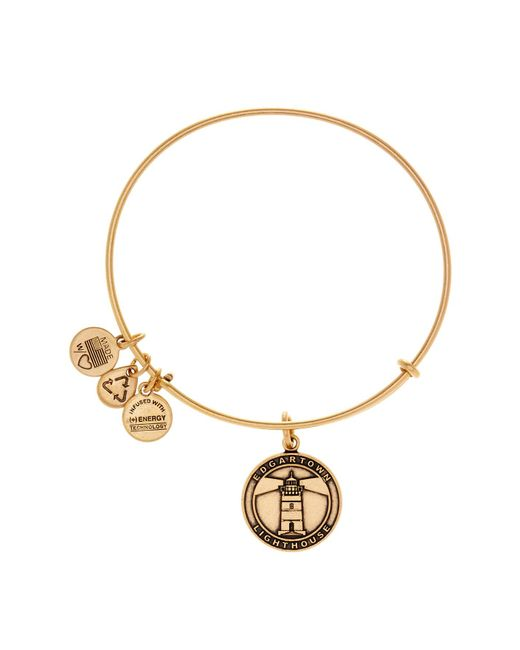 ALEX AND ANI   Metallic Edgartown Lighthouse Expandable Wire Bangle   Lyst
