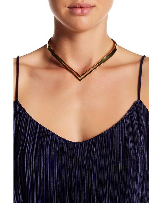 Argento Vivo   Metallic V-cutout Collar Necklace   Lyst