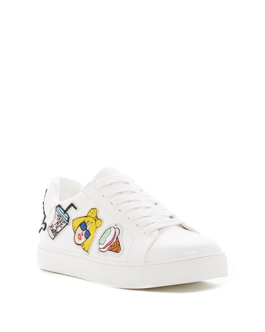 Call It Spring | White Adiang Patched Sneaker | Lyst