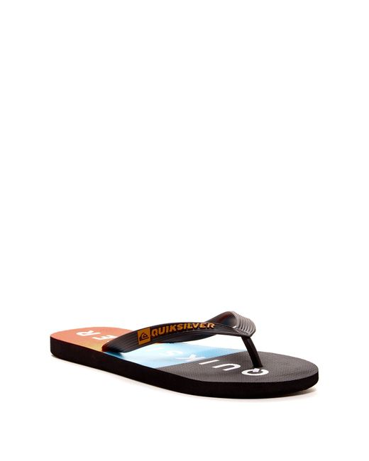 Quiksilver | Black Java Everyday Sunset Flip Flop for Men | Lyst
