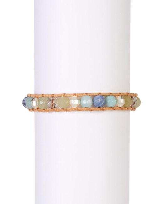 Chan Luu | Metallic Sterling Silver & Amazonite Beaded Bracelet | Lyst