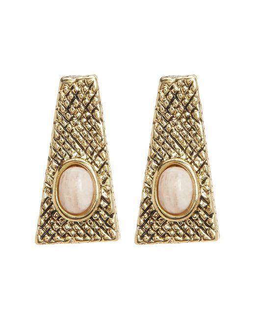 House of Harlow 1960   Pink Tanta Crosshatch Stud Earrings   Lyst