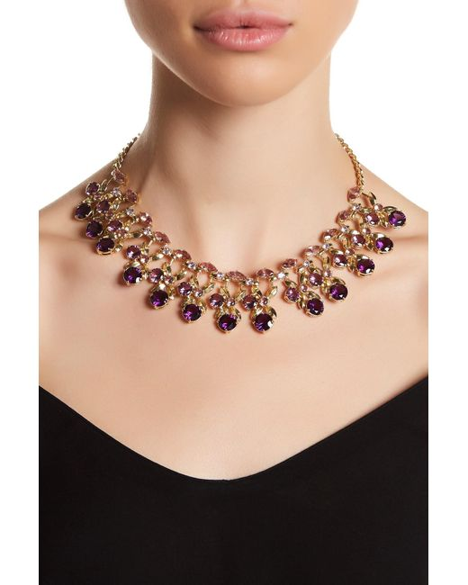 Carolee | Metallic Stone Decorated Collar Necklace | Lyst