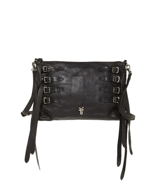Frye | Black Selena Strappy Leather Crossbody | Lyst