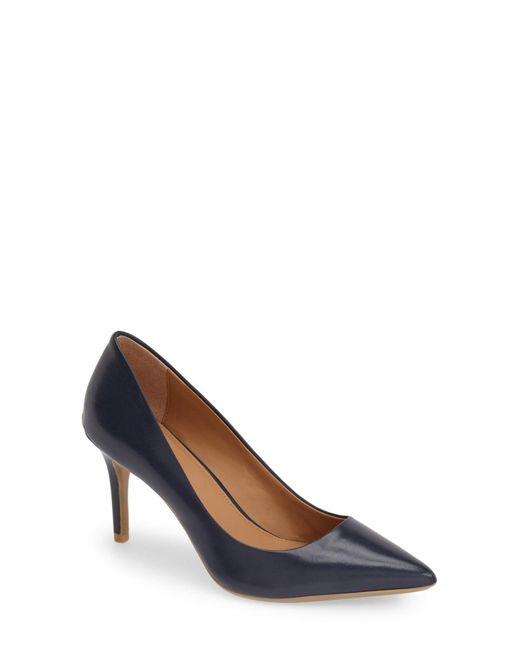 Calvin Klein | Blue 'gayle' Pointy Toe Pump | Lyst