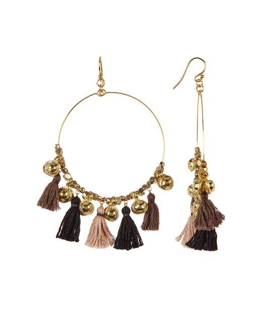 Chan Luu | Metallic Tassel Bell Hoop Dangle Earrings | Lyst