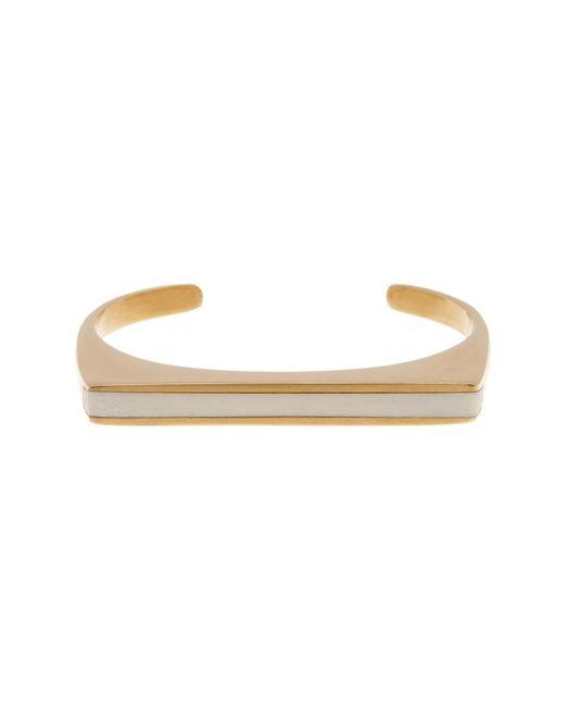 Soko   White Horn Inlay Line Cuff Bracelet - Medium   Lyst