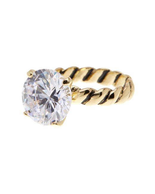 Ariella Collection | Metallic Round Cz Statement Ring | Lyst