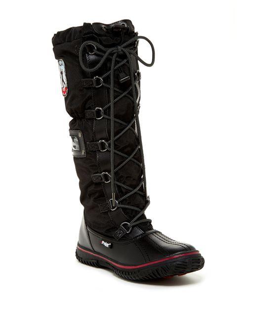 Pajar | Black Grip Tall Faux Fur Lined Boot | Lyst