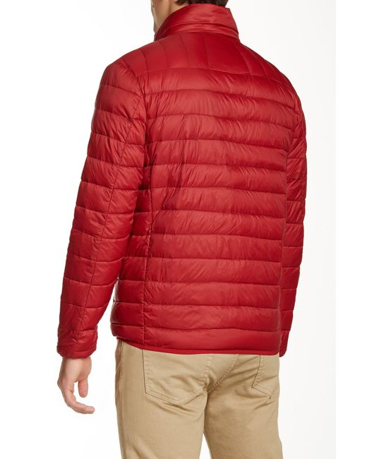 Hawke Amp Co Quilted Down Packable Jacket In Red For Men Lyst