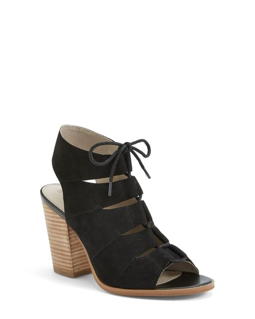 Hinge | Black Drea Leather Sandals | Lyst