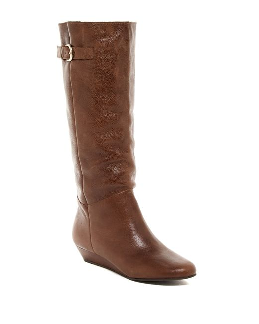 Steven by Steve Madden | Brown Insight Wedge Boot | Lyst