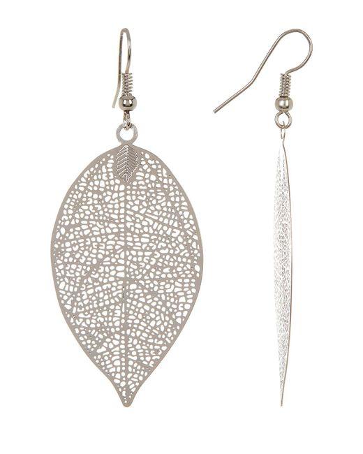 Joe Fresh | Metallic Leaf Pendant Earrings | Lyst