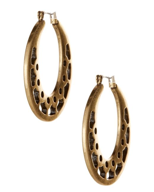 Lucky Brand | Multicolor Open Work Hoop Earrings | Lyst
