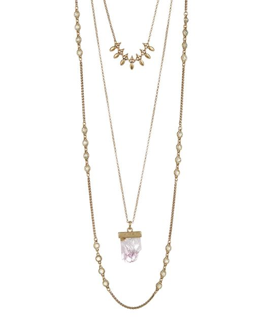 Lucky Brand | Multicolor Druzy Lucky Layer Necklace | Lyst