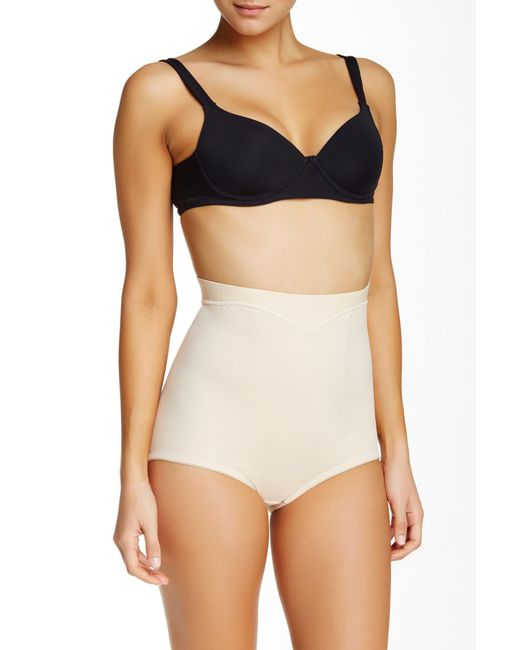 Joan Vass | Natural Mid Waist Control Brief (plus Size Available) | Lyst