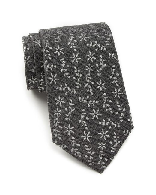 Calvin Klein | Black Texture Gingham Skinny Tie for Men | Lyst