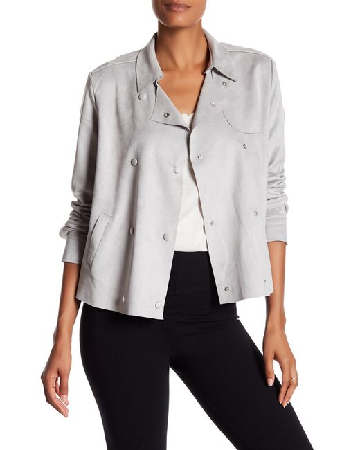 Kut From The Kloth | Gray Faux Suede Double Breast Jacket | Lyst