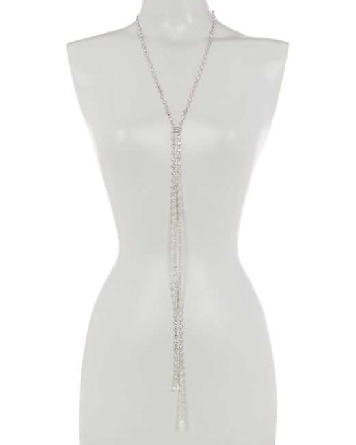 CZ by Kenneth Jay Lane | Metallic Cz By The Yard Lariat Necklace | Lyst