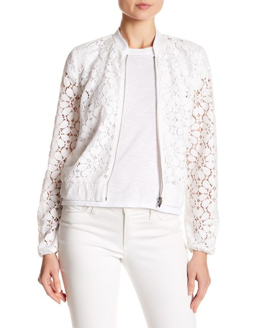 Laundry by Shelli Segal | White Peek Lace Jacket | Lyst