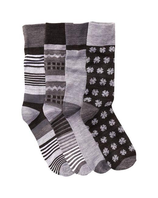 Lucky Brand   Black Colorblock Socks - Pack Of 4 for Men   Lyst