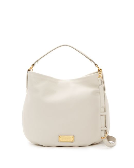 Marc By Marc Jacobs | Natural New Q Hillier Leather Hobo Shoulder Bag | Lyst