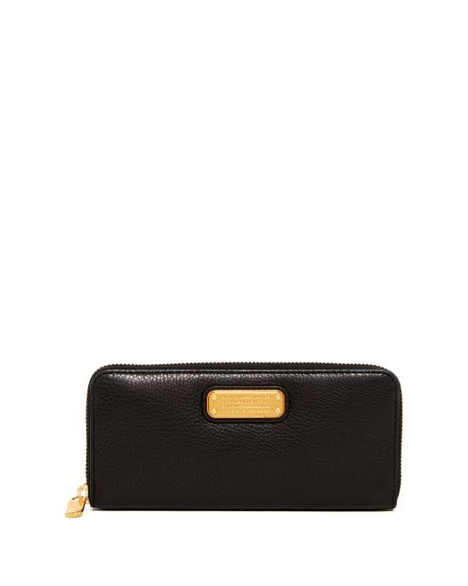Marc By Marc Jacobs | Black New Q Slim Zip Continental Leather Wallet | Lyst