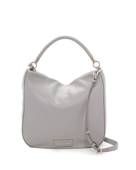 Marc By Marc Jacobs | Gray Leather Hobo | Lyst