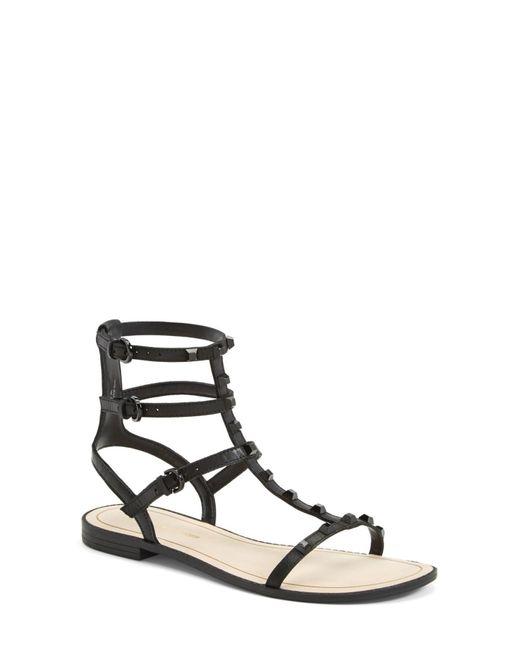 Rebecca Minkoff | Black 'georgina' Studded Leather Sandal | Lyst