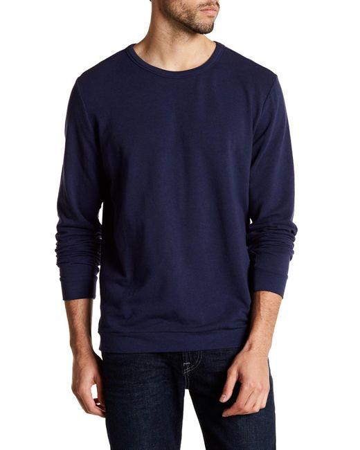 Onia | Blue Owen Crew Neck Sweatshirt for Men | Lyst