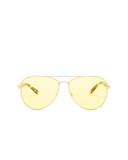 Michael Kors | Yellow Women's Pilot Sunglasses | Lyst