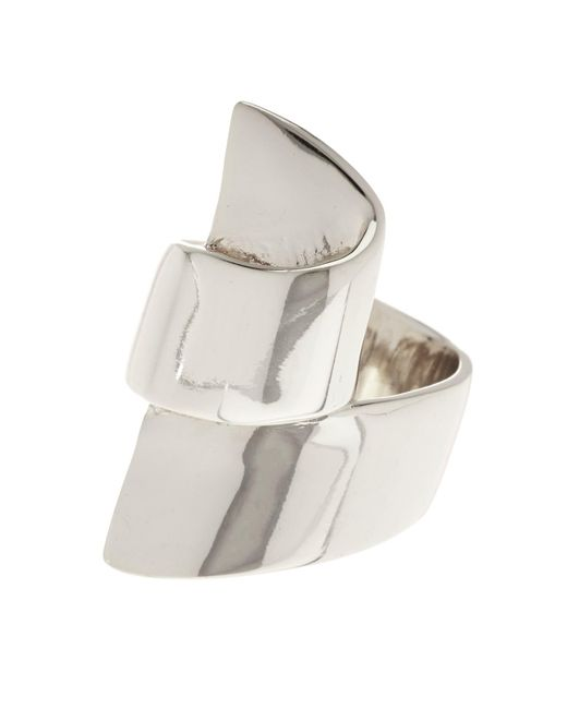 Ariella Collection   Metallic Ribbon Metal Ring - Size 8   Lyst