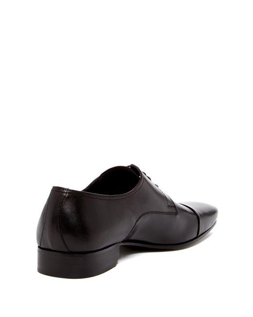 Bruno Magli Martico Leather Cap Toe Dress Shoes