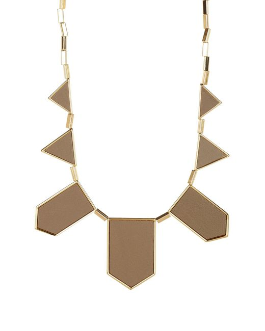 House of Harlow 1960 | Multicolor Leather Station Bib Necklace | Lyst