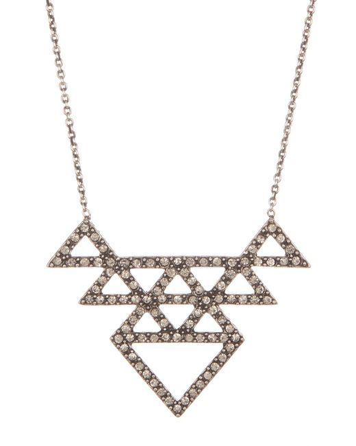House of Harlow 1960 | Metallic Crystal Pave Tessella Pendant Necklace | Lyst