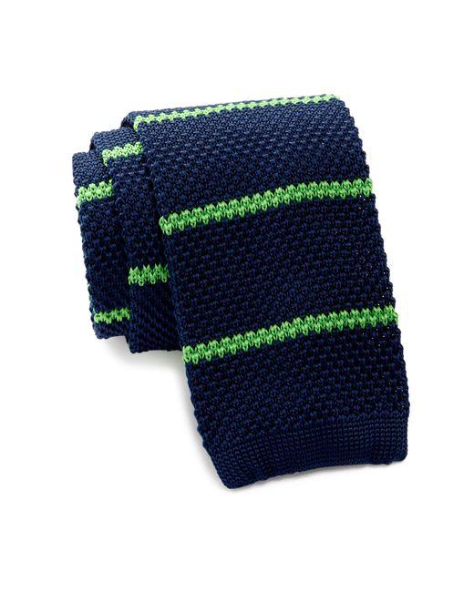Burma Bibas | Blue Bar Stripe Knit Tie for Men | Lyst