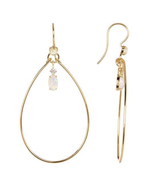 Nadri   Metallic Fizzy Crystal Drop Hoop Earrings   Lyst