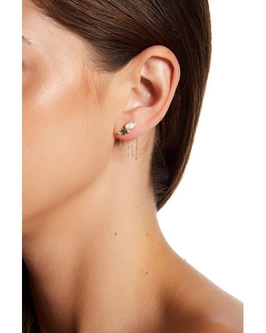 Nadri | Metallic Fizzy Drop Back Earrings | Lyst