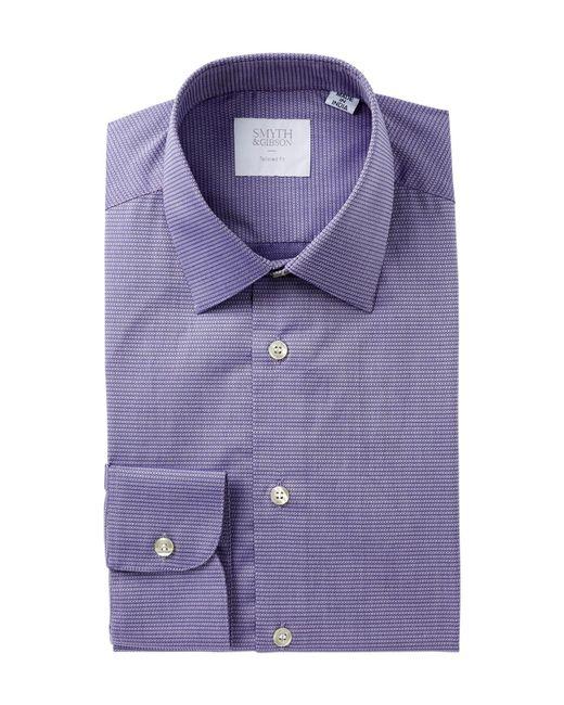 Smyth & Gibson | Purple Dobby Print Tailored Fit Dress Shirt for Men | Lyst