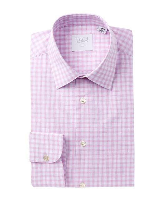 Smyth & Gibson | Pink Poplin Plaid Tailored Fit Dress Shirt for Men | Lyst