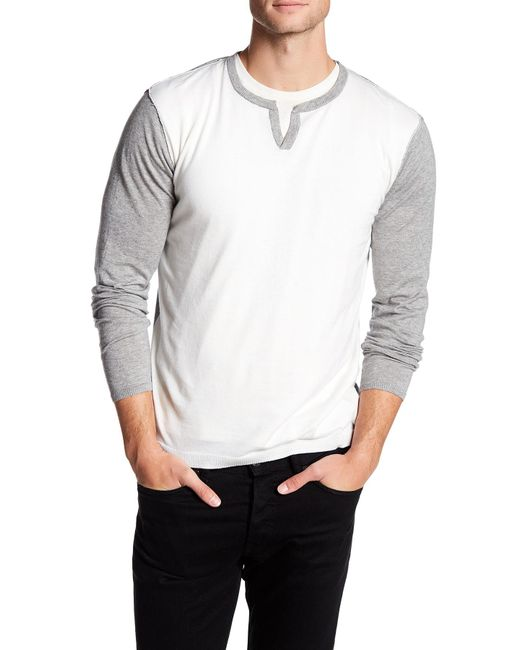 Autumn Cashmere | Gray Long Sleeve Colorblock Shirt for Men | Lyst