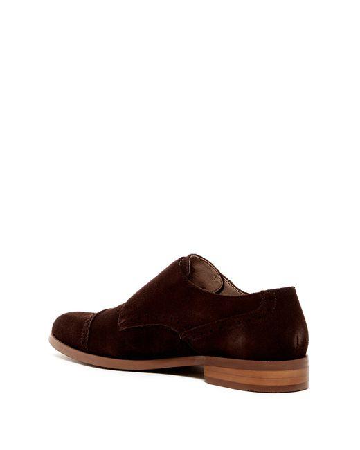 original penguin monk suede dress shoe in brown for