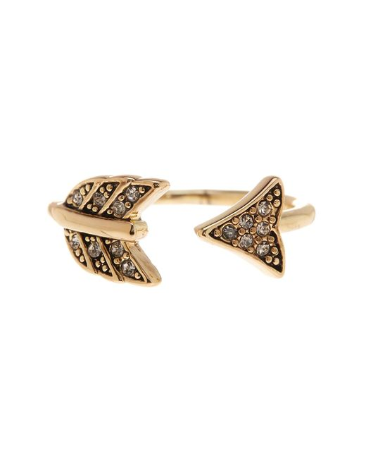 House of Harlow 1960   Metallic Crystal Detail Open Arrow Ring - Size 5   Lyst