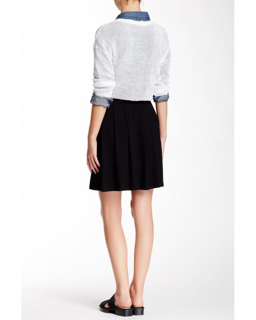eileen fisher pleated skirt in black save