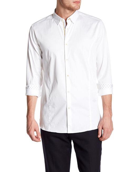 Ted Baker | White Algravy Trim Fit Shirt for Men | Lyst