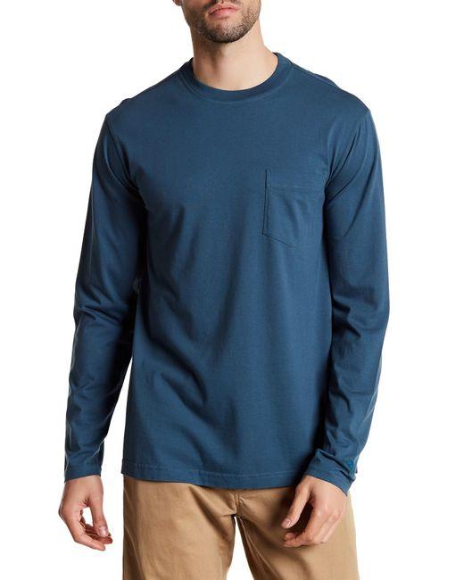 Tommy Bahama Bali Skyline Long Sleeve Pocket Tee In Blue