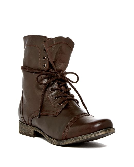 Steve Madden | Brown Troopah Lace-up Boot for Men | Lyst