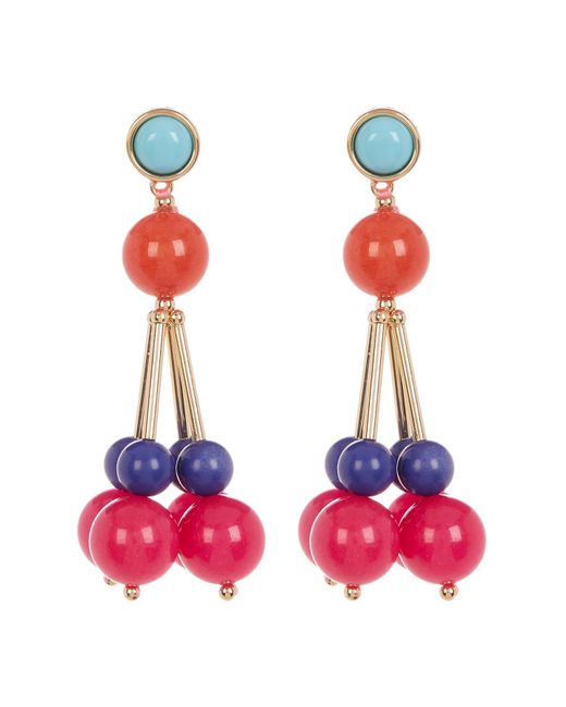 Trina Turk   Multicolor Bead Cluster Drop Earrings   Lyst