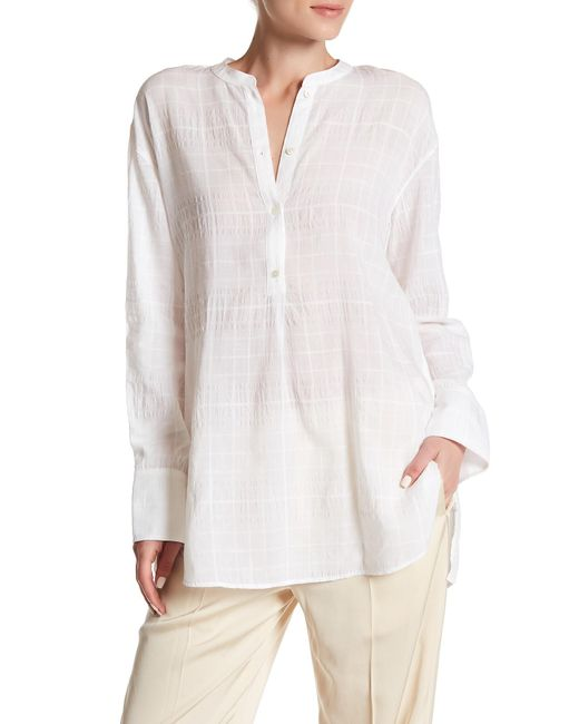 Vince | White Shirred Back Tunic | Lyst