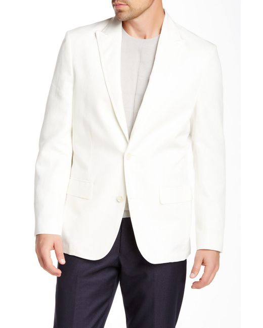 Vince Camuto | White Vanilla Two Button Notch Lapel Blazer for Men | Lyst